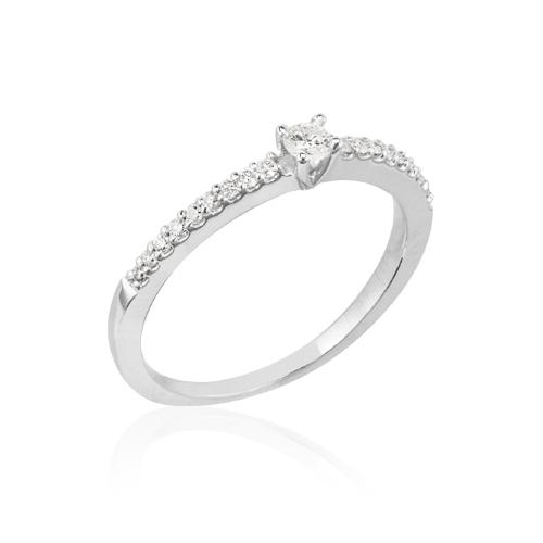 alianza oro blanco diamantes