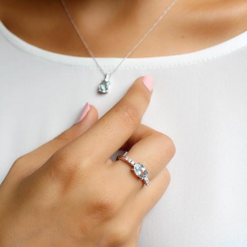 colgante y anillo aguamarina bernat rubi