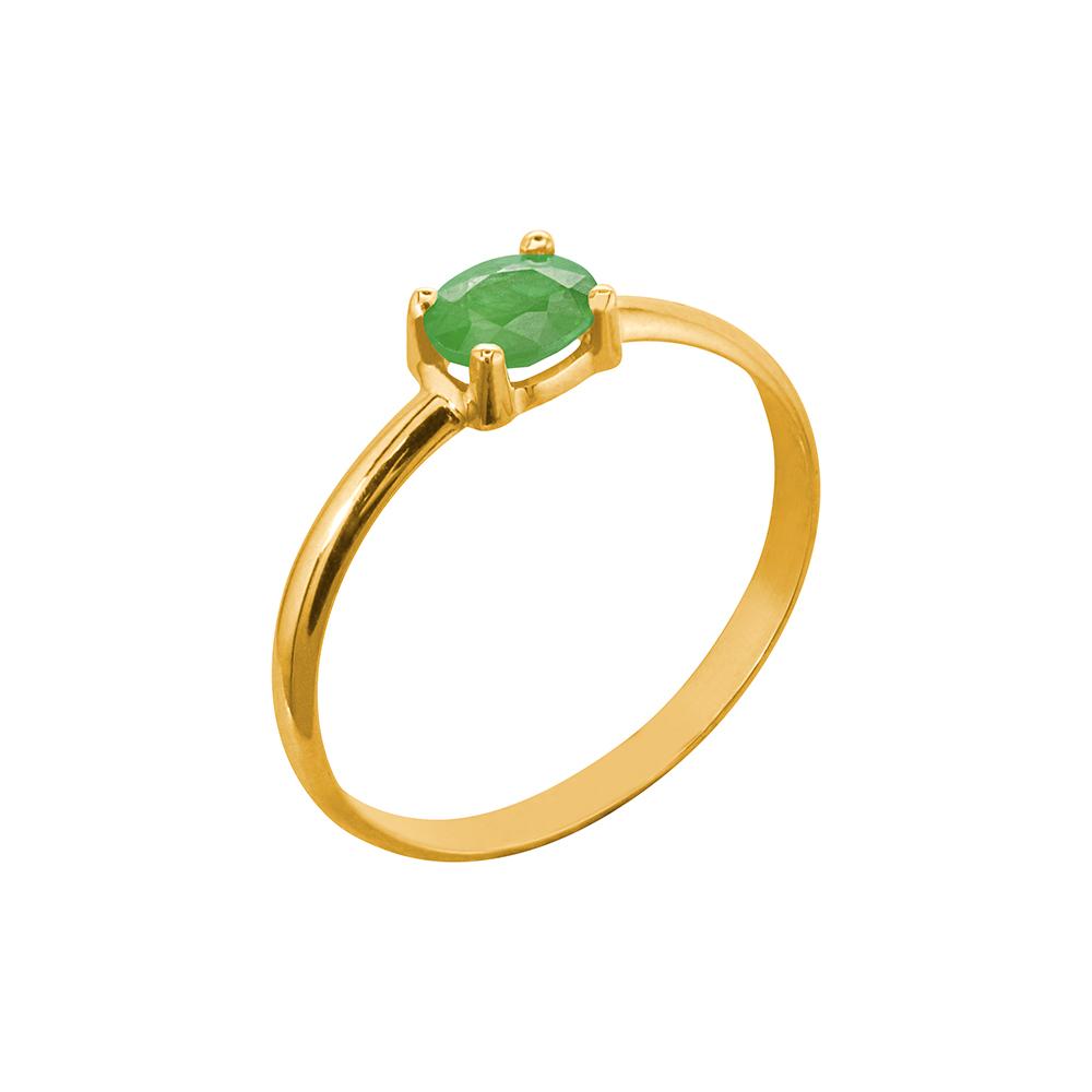anillo oro amarillo esmeralda