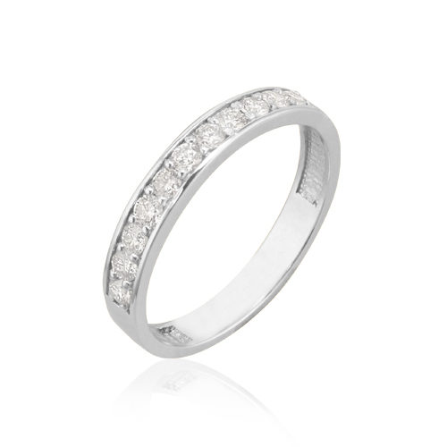 anillo pedida diamantes en carril