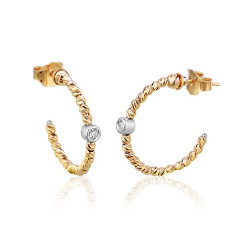 pendientes oro amarillo diamante