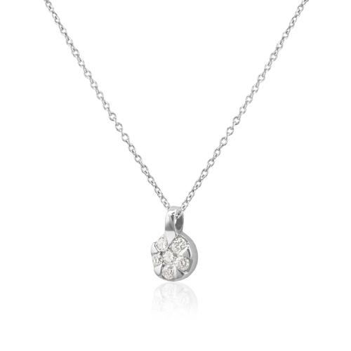 a4dd91b0d435 Gargantilla de Oro Rosetón con Diamantes