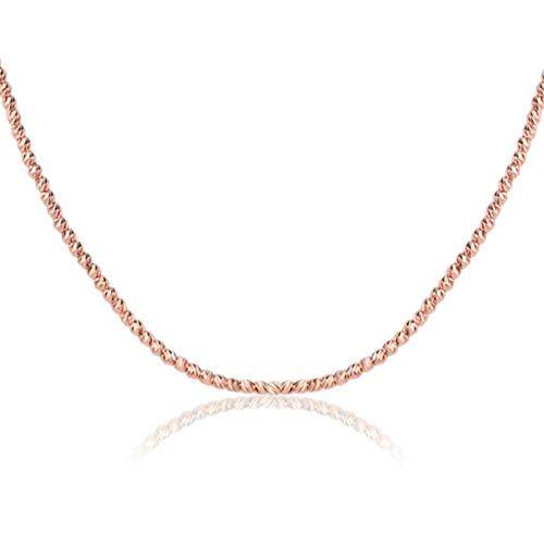 collar oro rosa briolettes