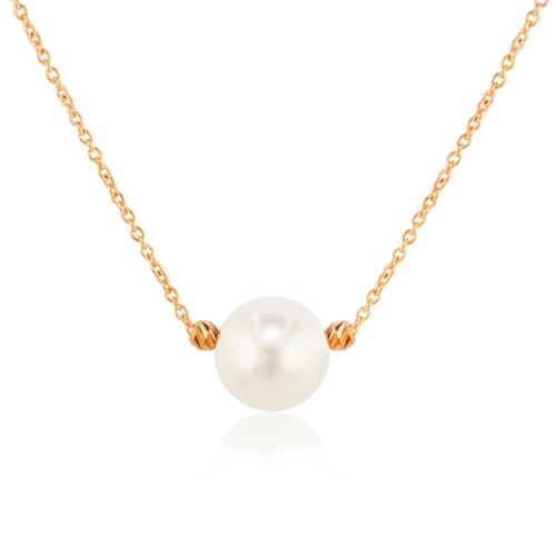collar oro perla