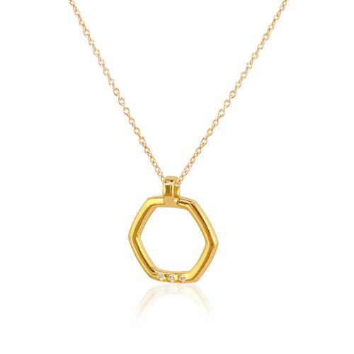 collar oro amarillo diamantes