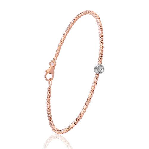 pulsera oro rosa diamante