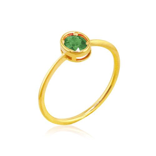 anillo oro amarillo esmeralda oval