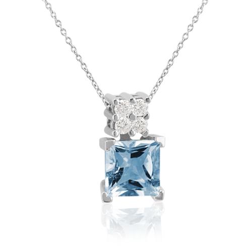 gargantilla oro aguamarina diamantes
