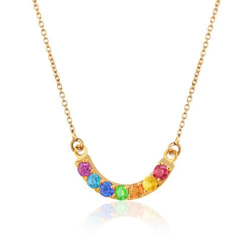 gargantilla oro zafiros amatista rubi