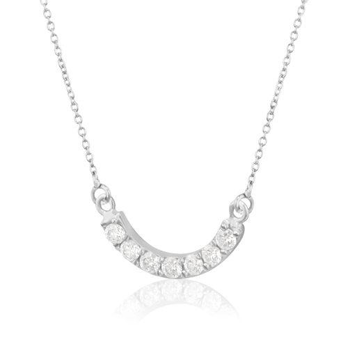 gargantilla de oro blanco con diamante