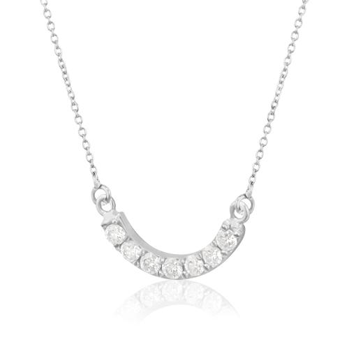 fa6359681312 Gargantilla de Oro Media Luna Diamantes - Bernat Rubí Joyería