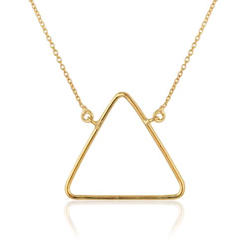 gargantilla de oro amarillo triángulo grande