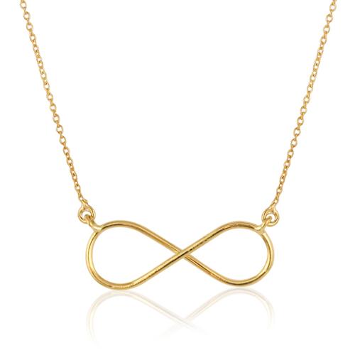 collar de oro amarillo con infinito