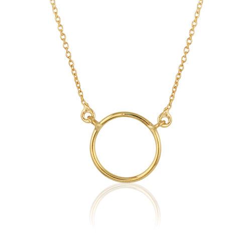 Gargantilla de oro amarillo circulo