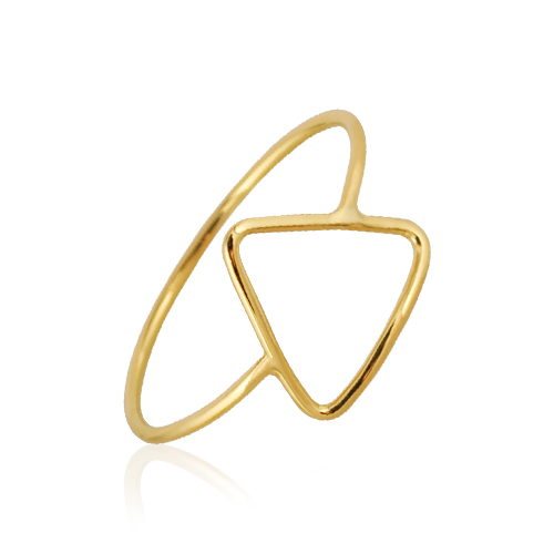 anillo de oro amarillo triángulo