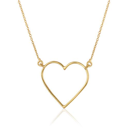 gargantilla de oro amarillo corazón