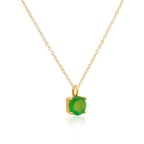 gargantilla de oro amarillo con esmeralda