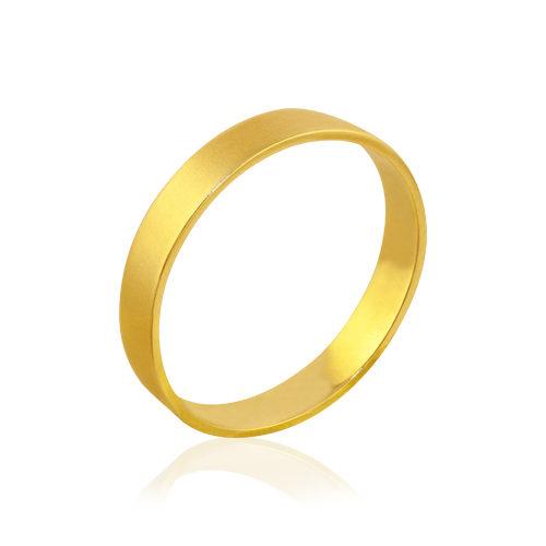 alianza de oro amarillo mate
