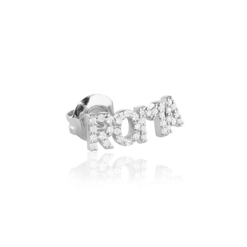 pendiente de oro y diamantes personalizado con nombre
