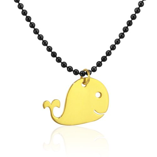 gargantilla ballena de oro amarillo