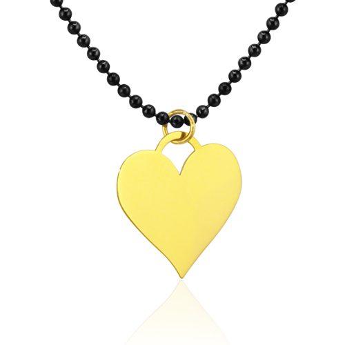 gargantilla con corazón de oro amarillo