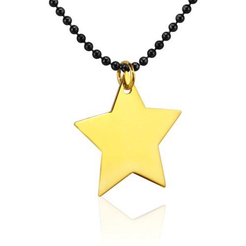 gargantilla estrella de oro