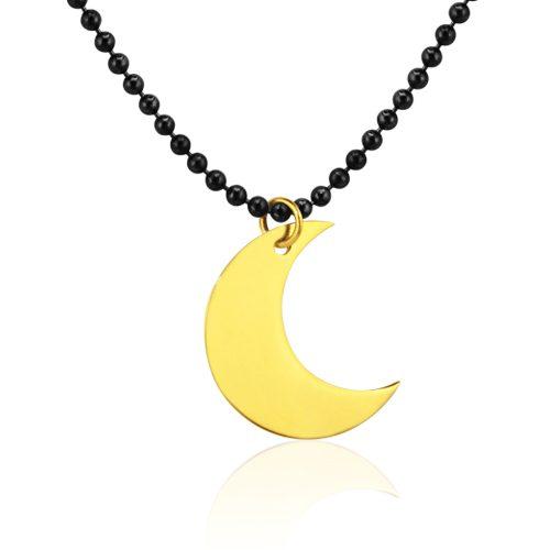gargantilla luna oro