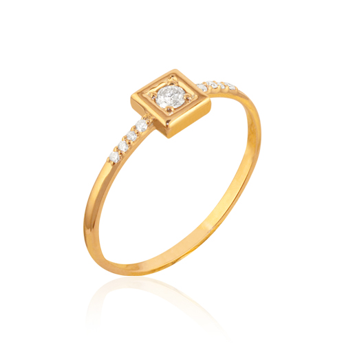 anillo de pedida original de oro y diamantes