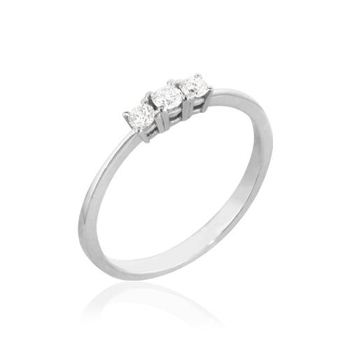 anillo de oro con diamantes triology