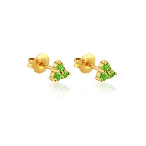 pendientes de oro amarillo con esmeraldas