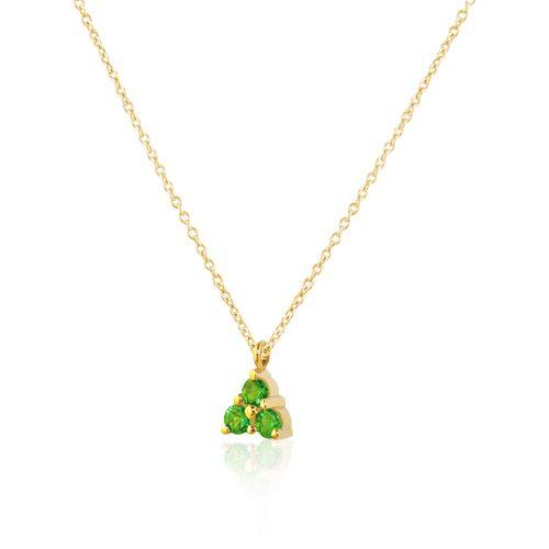 gargantilla de oro amarillo con esmeraldas