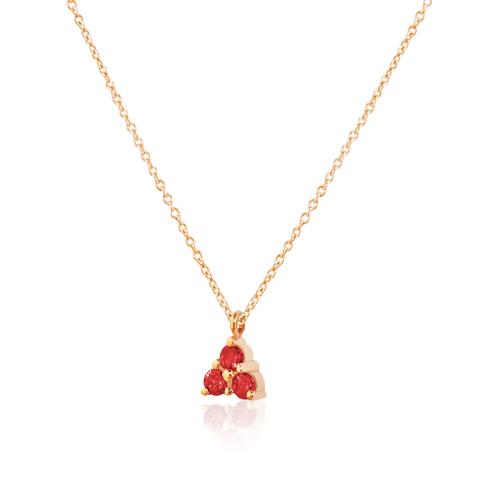 gargantilla de oro rosa con rubíes