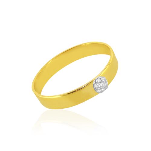 anillo alianza de oro y diamantes