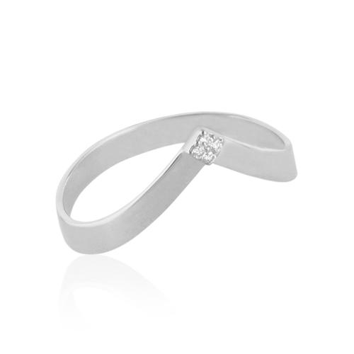 anillo angulo de oro y diamantes