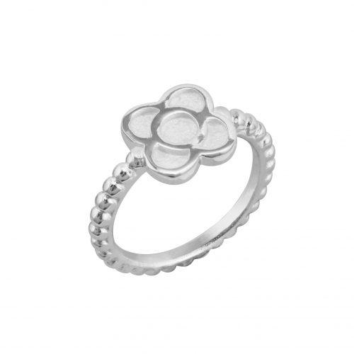 anillo de plata con flor Barcelona