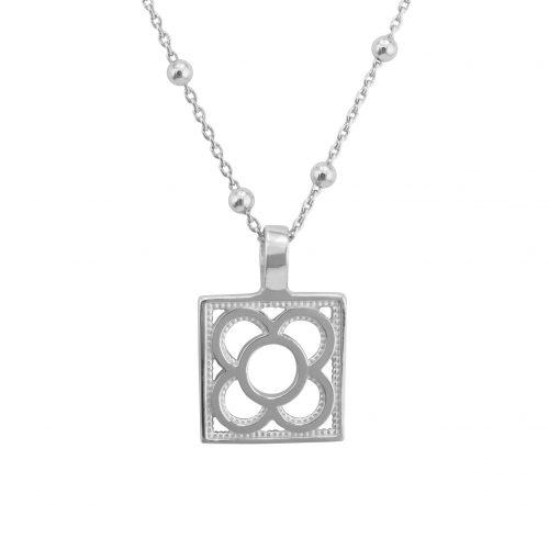collar de plata flor Barcelona