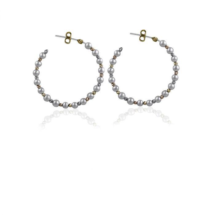 aros de oro con perlas