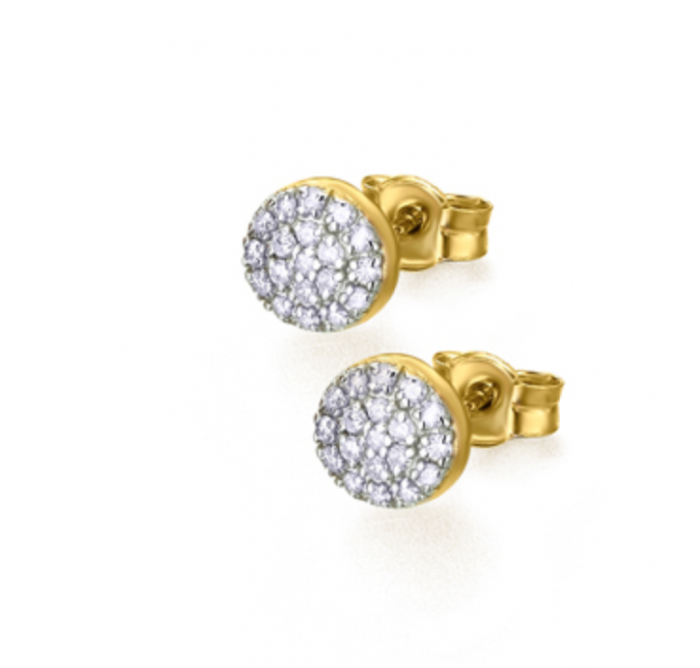 pendientes de oro amarillo con diamantes