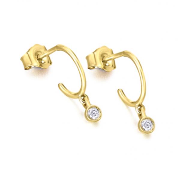 aros de oro con diamantes