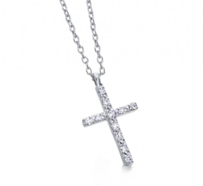 collar de oro con cruz diamantes