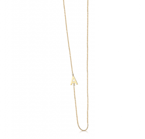 collar de oro con inicial