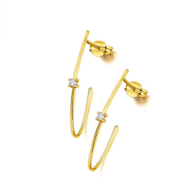 pendientes oro amarillo con diamante