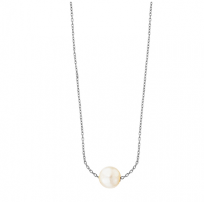 collar de oro con perla
