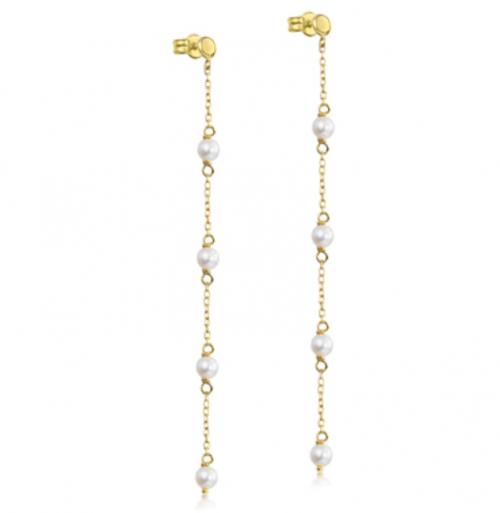 pendientes de oro con perlas