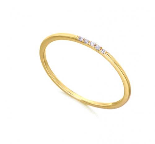 alianza de oro con diamantes