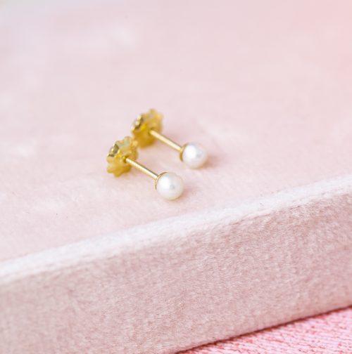 pendientes de perla para bebe