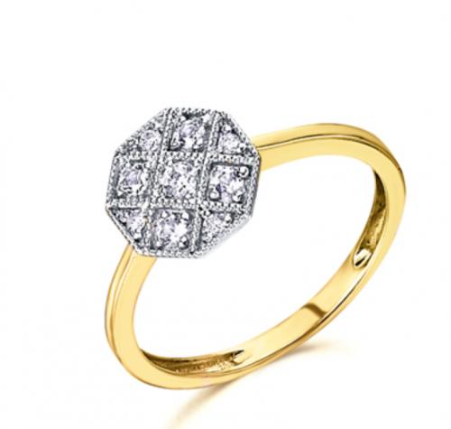 anillo de oro amarillo vintage