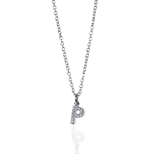 collar con inicial de plata