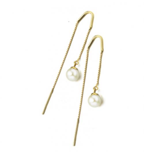 pendientes de oro 18k con perla