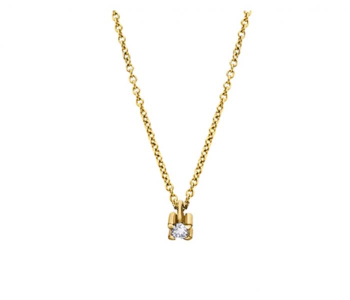 collar de oro con diamante